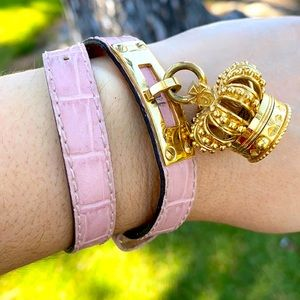 Juicy Couture Crown Watch CHARM Leather bracelet